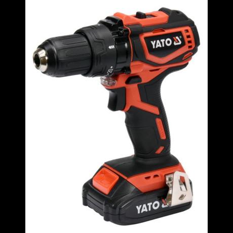 YATO Akkumulátoros fúrócsavarozó szénkefe nélküli (akkumulátor + töltő) - 18 V/2,0 Ah