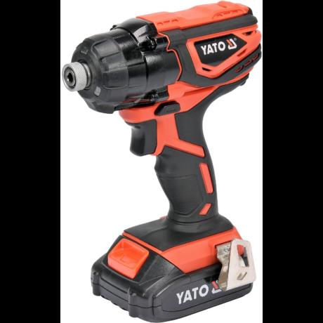 YATO Akkumulátoros ütvecsavarozó (akkumulátor + töltő) - 18 V/160 Nm
