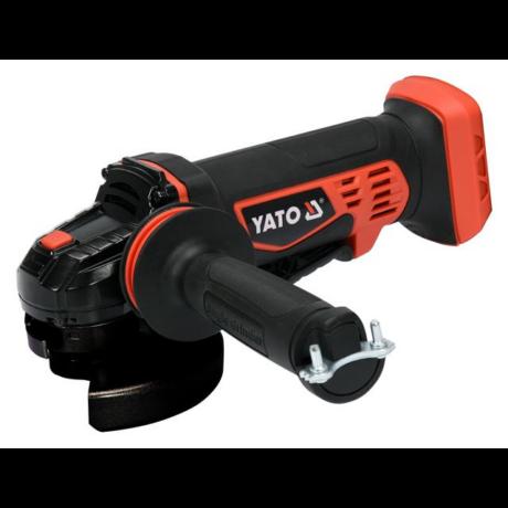 YATO Akkumulátoros sarokcsiszoló csomagban - 125 mm (2,0 Ah + 3,0 Ah + töltő)