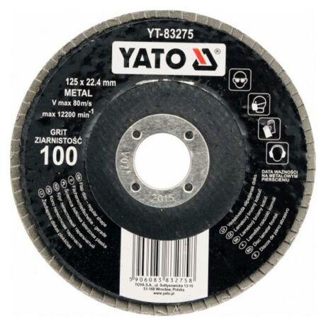 YATO Lamellás csiszolótárcsa - univerzális/125x22,2/P120