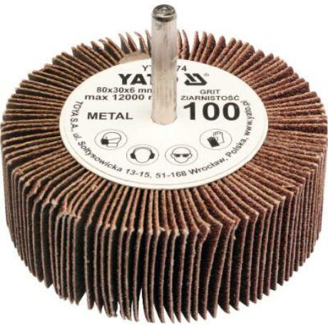 YATO Csapos lamellás, legyező csiszoló P40 - 6/80x30 mm